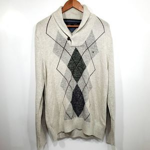 Mens Tommy Hilfiger Cowl Neck Pull Over Sweater